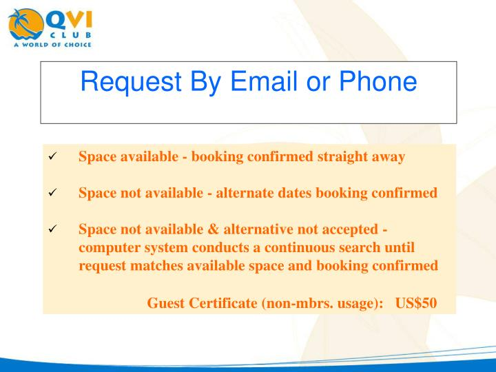 Request By Email or Phone