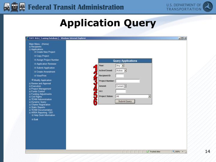 Application Query