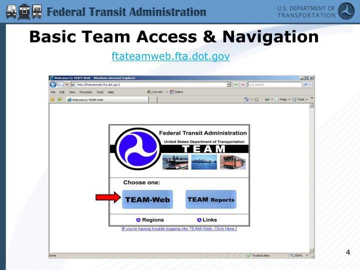 Basic Team Access & Navigation