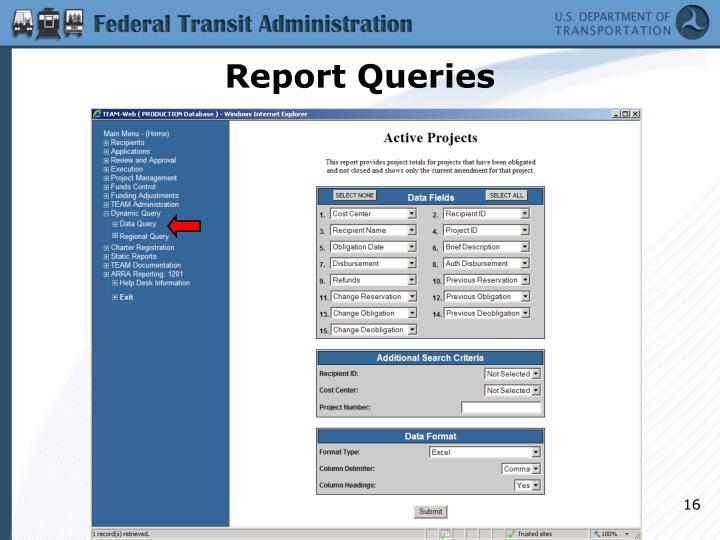 Report Queries