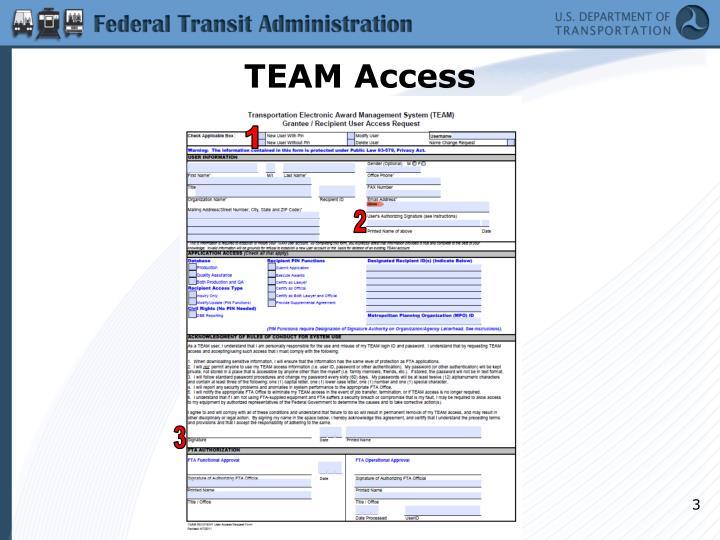 Team access