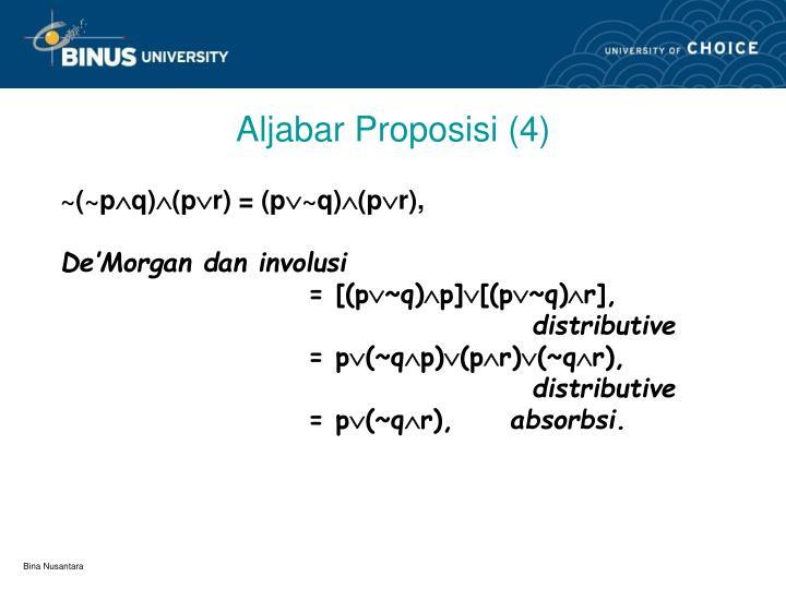 Aljabar Proposisi (4)