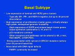 basal subtype