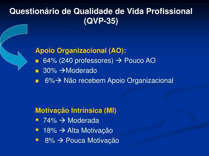 Questionário de Qualidade de Vida Profissional (QVP-35)