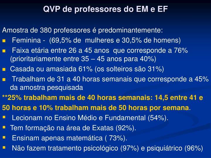 QVP de professores do EM e EF