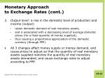 monetary approach to exchange rates cont2