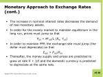 monetary approach to exchange rates cont4