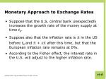 monetary approach to exchange rates1