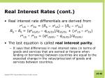 real interest rates cont