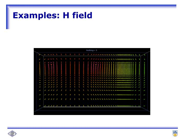 Examples: H field