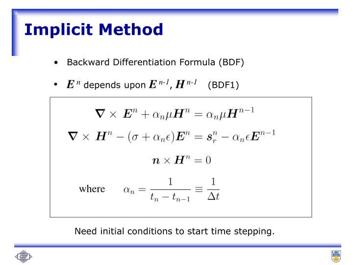 Implicit Method