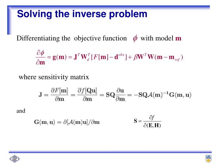 Solving the inverse problem