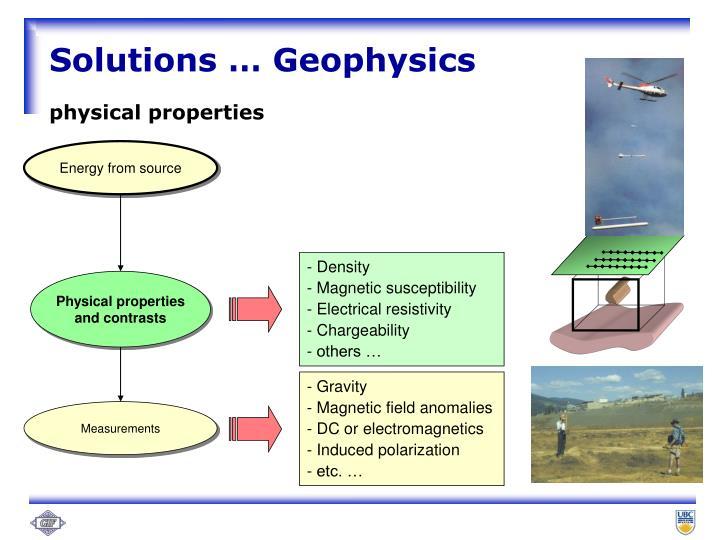 Solutions … Geophysics