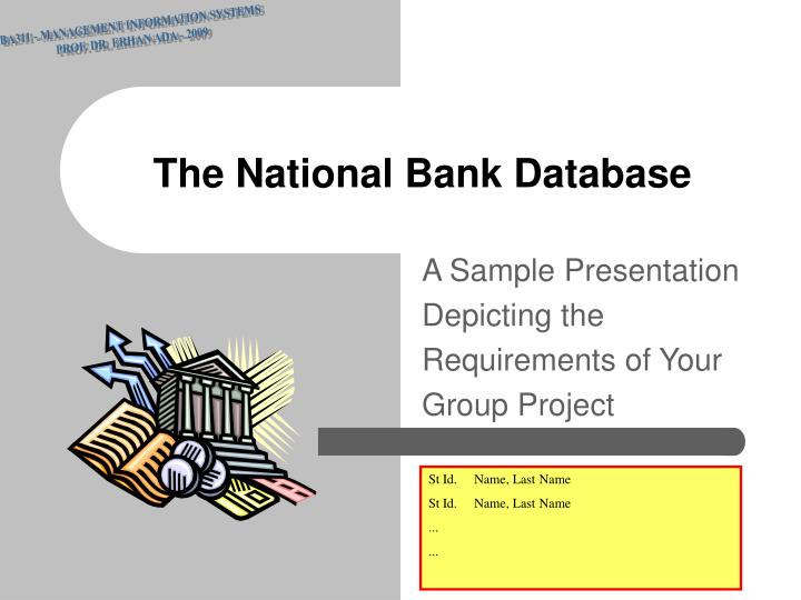 the national bank database n.