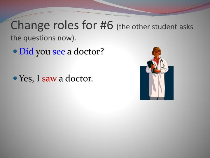Change roles for #6