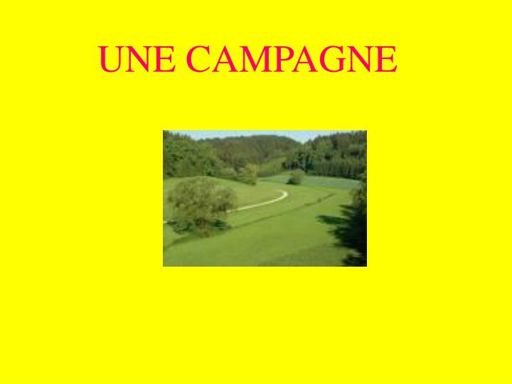 UNE CAMPAGNE