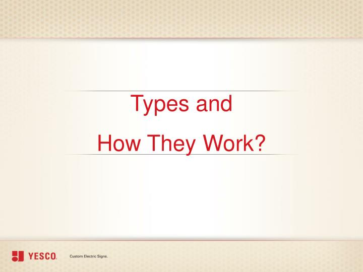 Types and