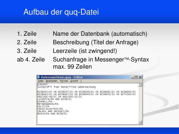 Aufbau der quq-Datei