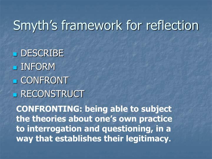 Smyth's framework for reflection