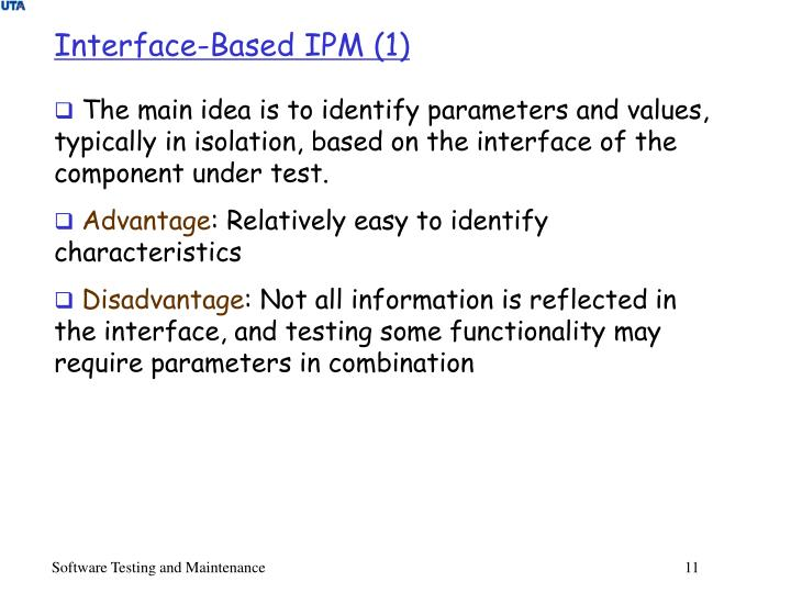 Interface-Based IPM (1)
