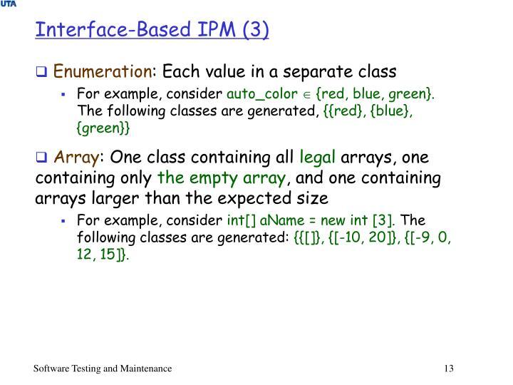 Interface-Based IPM (3)