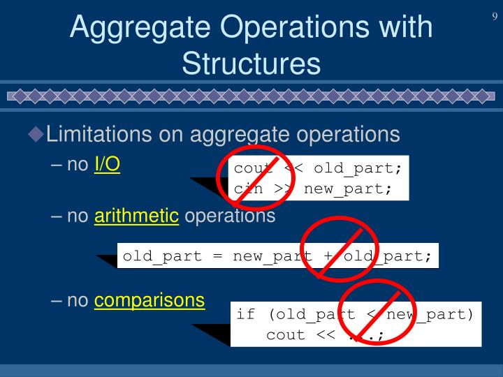 Aggregate Operations with Structures
