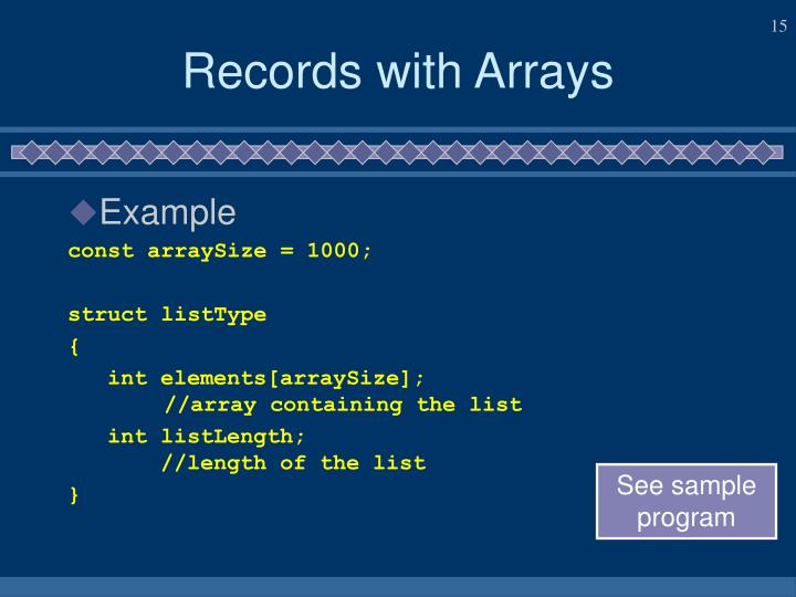 Records with Arrays