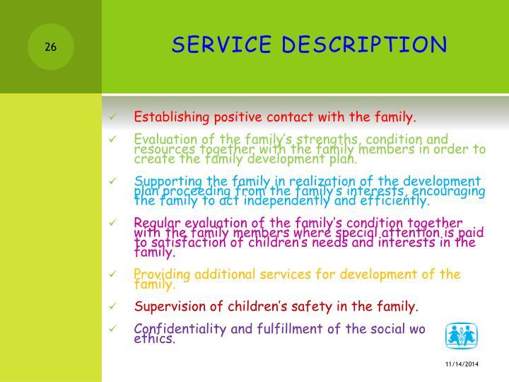 SERVICE DESCRIPTION