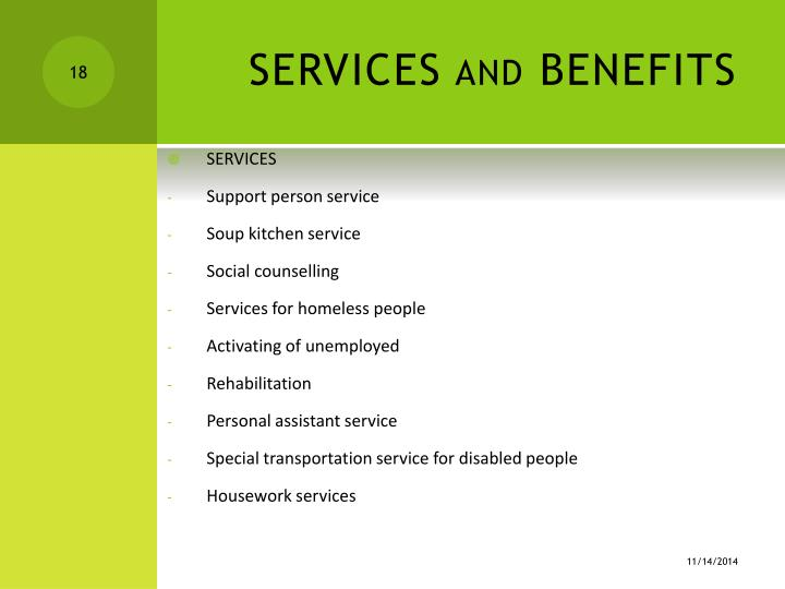 SERVICES and