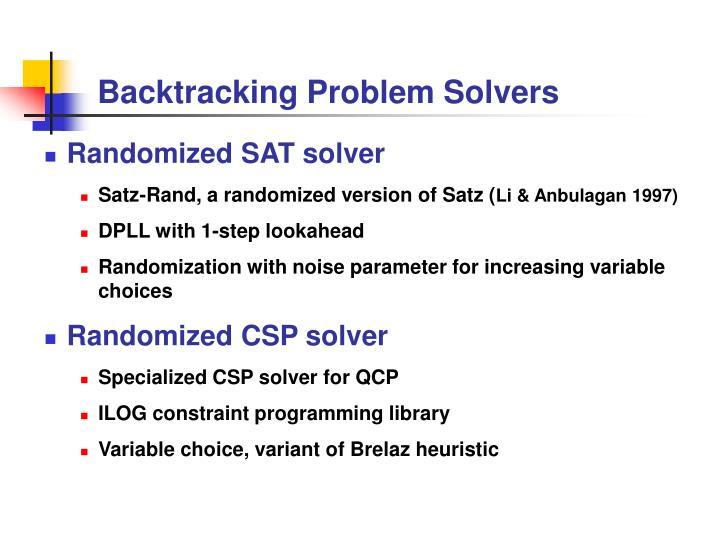 Backtracking Problem Solvers