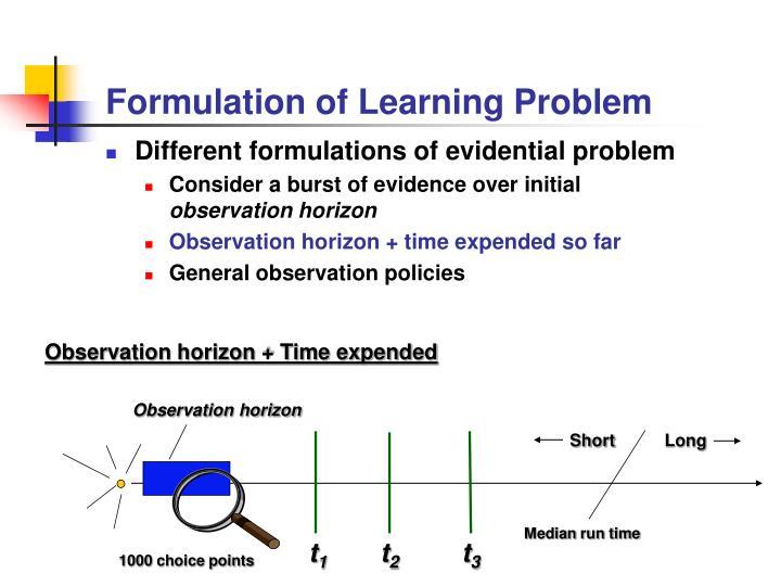 Formulation of Learning Problem