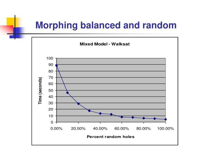 Morphing balanced and random