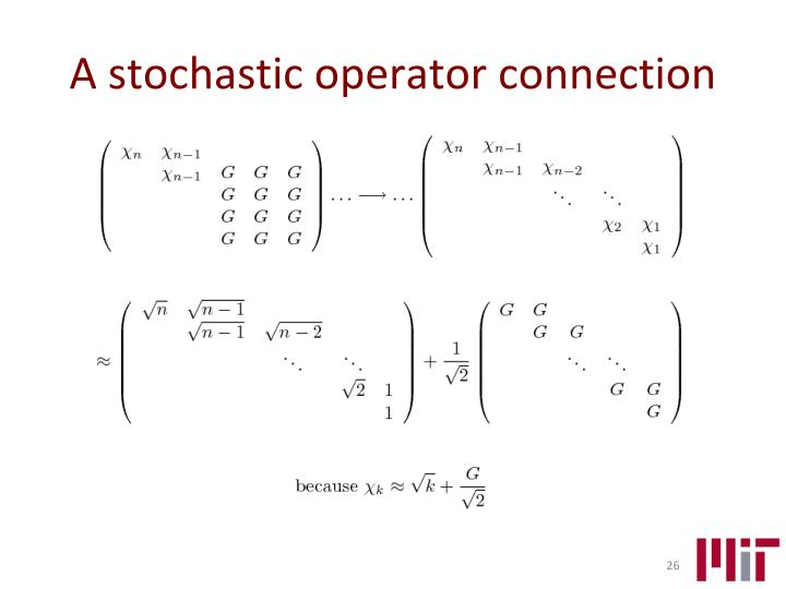 A stochastic operator connection