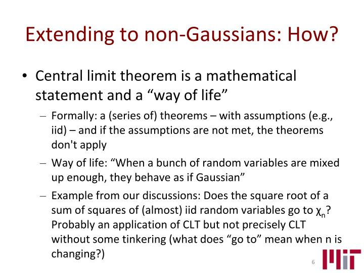 Extending to non-Gaussians: How?