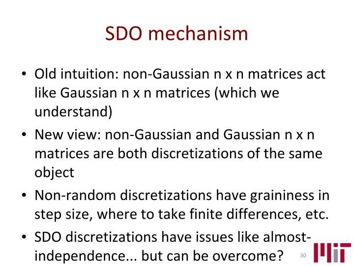 SDO mechanism