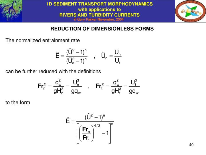 REDUCTION OF DIMENSIONLESS FORMS