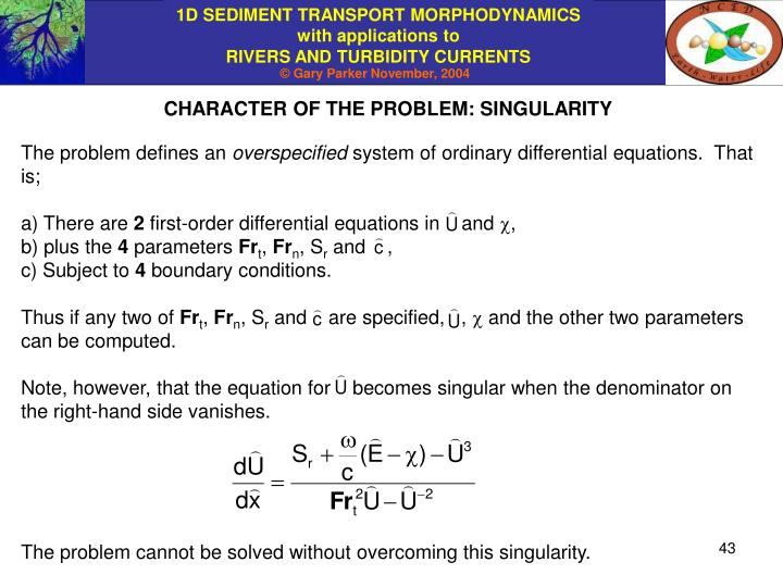 CHARACTER OF THE PROBLEM: SINGULARITY