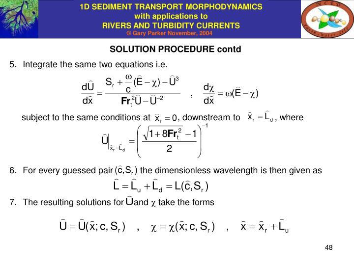 SOLUTION PROCEDURE contd