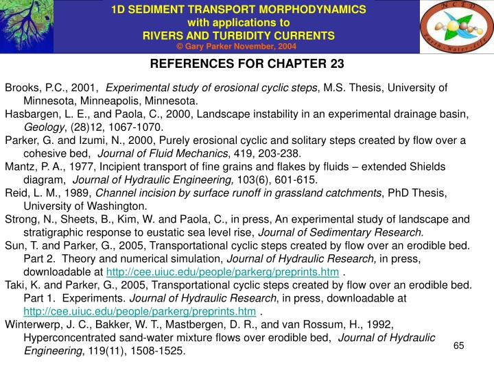 REFERENCES FOR CHAPTER 23