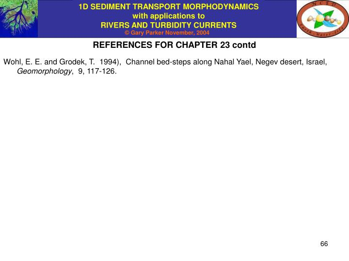 REFERENCES FOR CHAPTER 23 contd