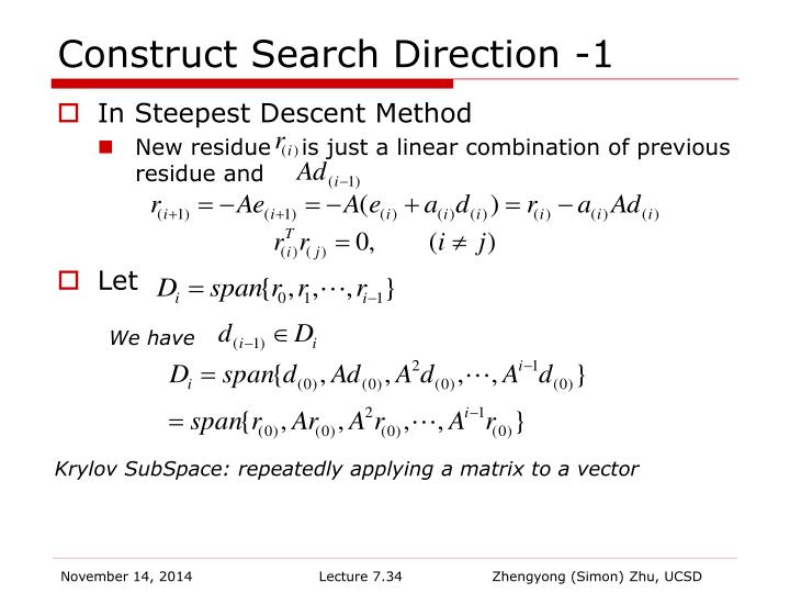 Construct Search Direction -1