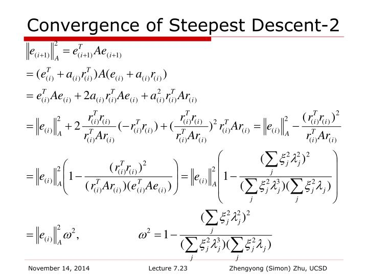 Convergence of Steepest Descent-2