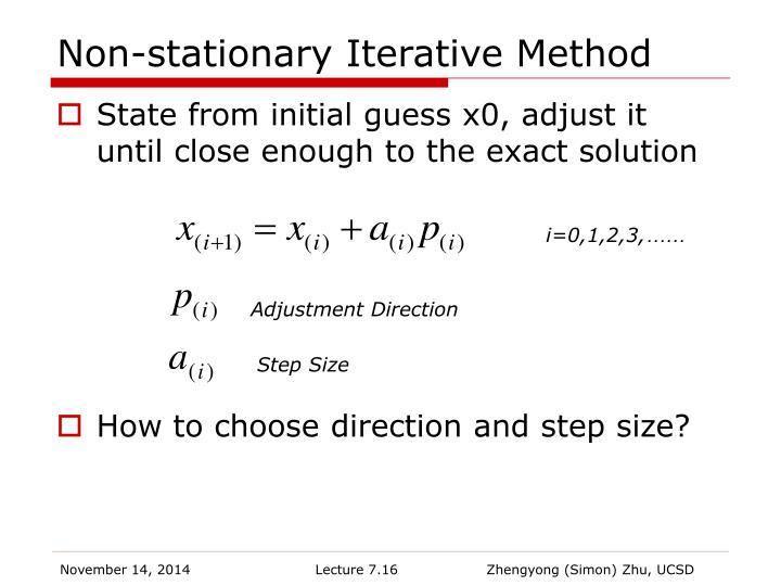 Non-stationary Iterative Method