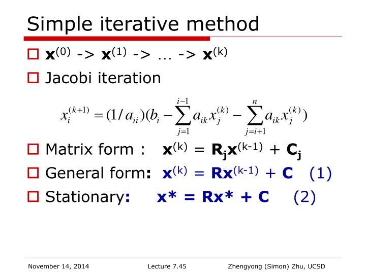 Simple iterative method