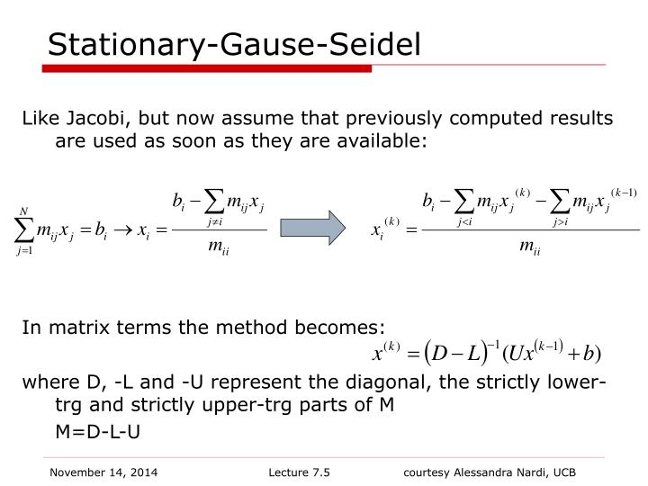 Stationary-Gause-Seidel