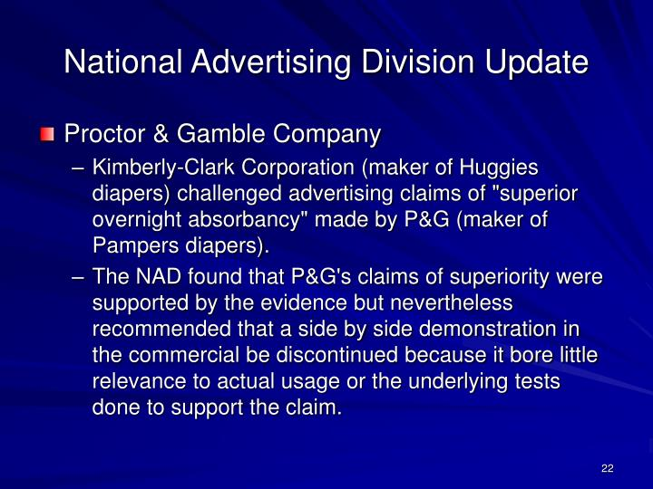 National Advertising Division Update