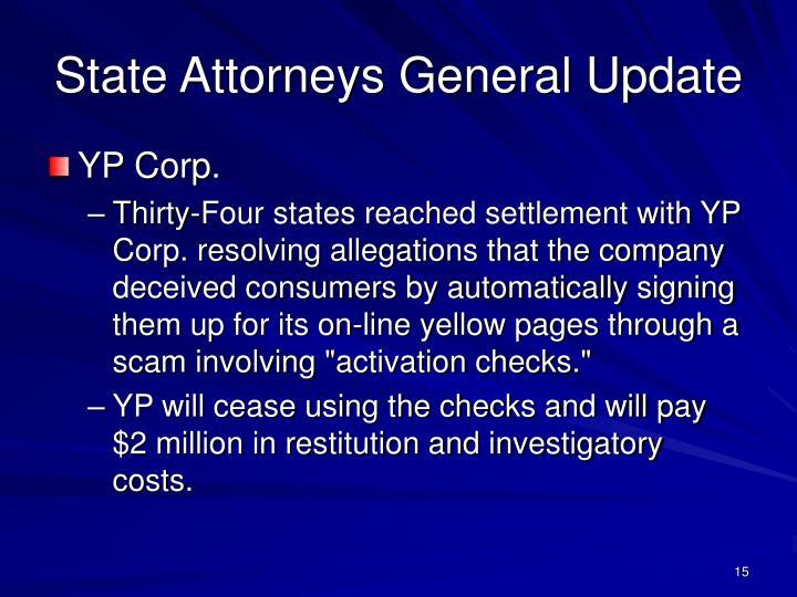 State Attorneys General Update