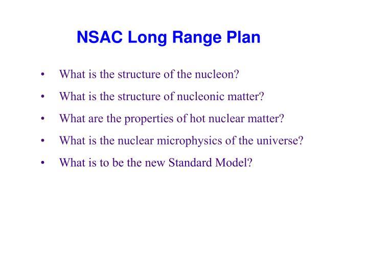 Nsac long range plan