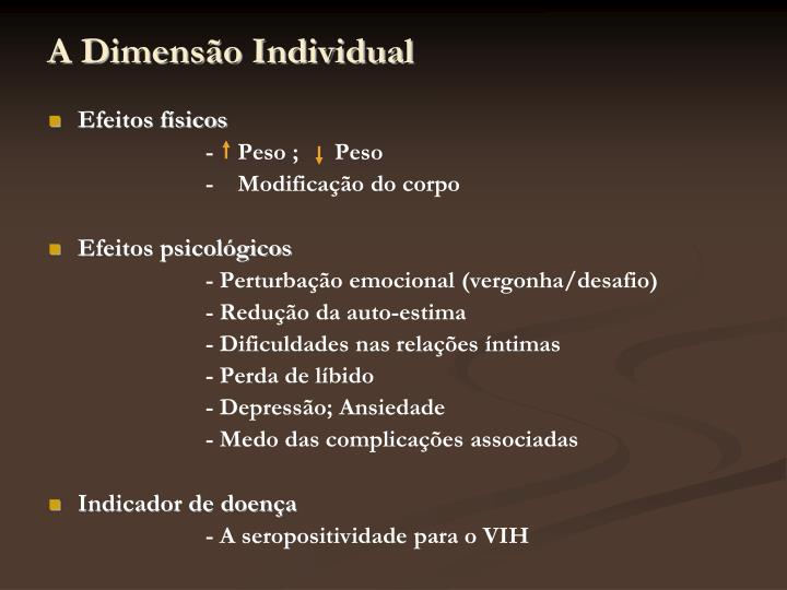A Dimensão Individual