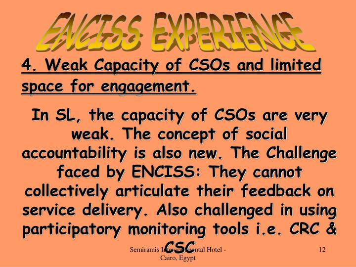 ENCISS EXPERIENCE